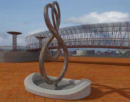 City elements 3D Model