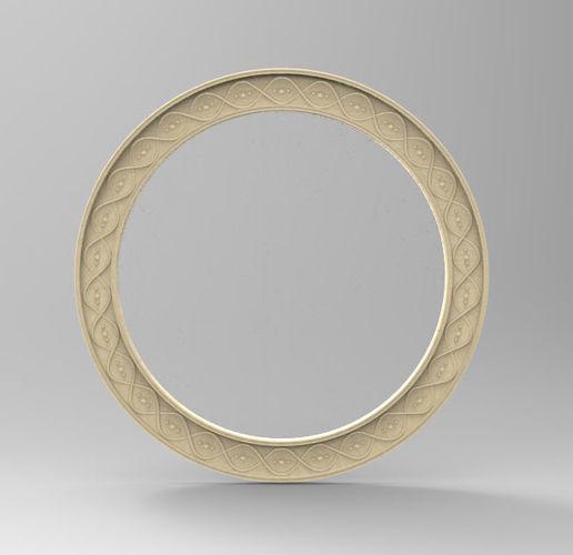 mirror frame sun n moon -set- 3d model obj mtl 3ds stl 1