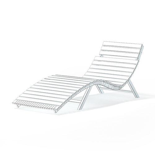 wooden deck chair 3d model 3d model max obj mtl fbx c4d 1