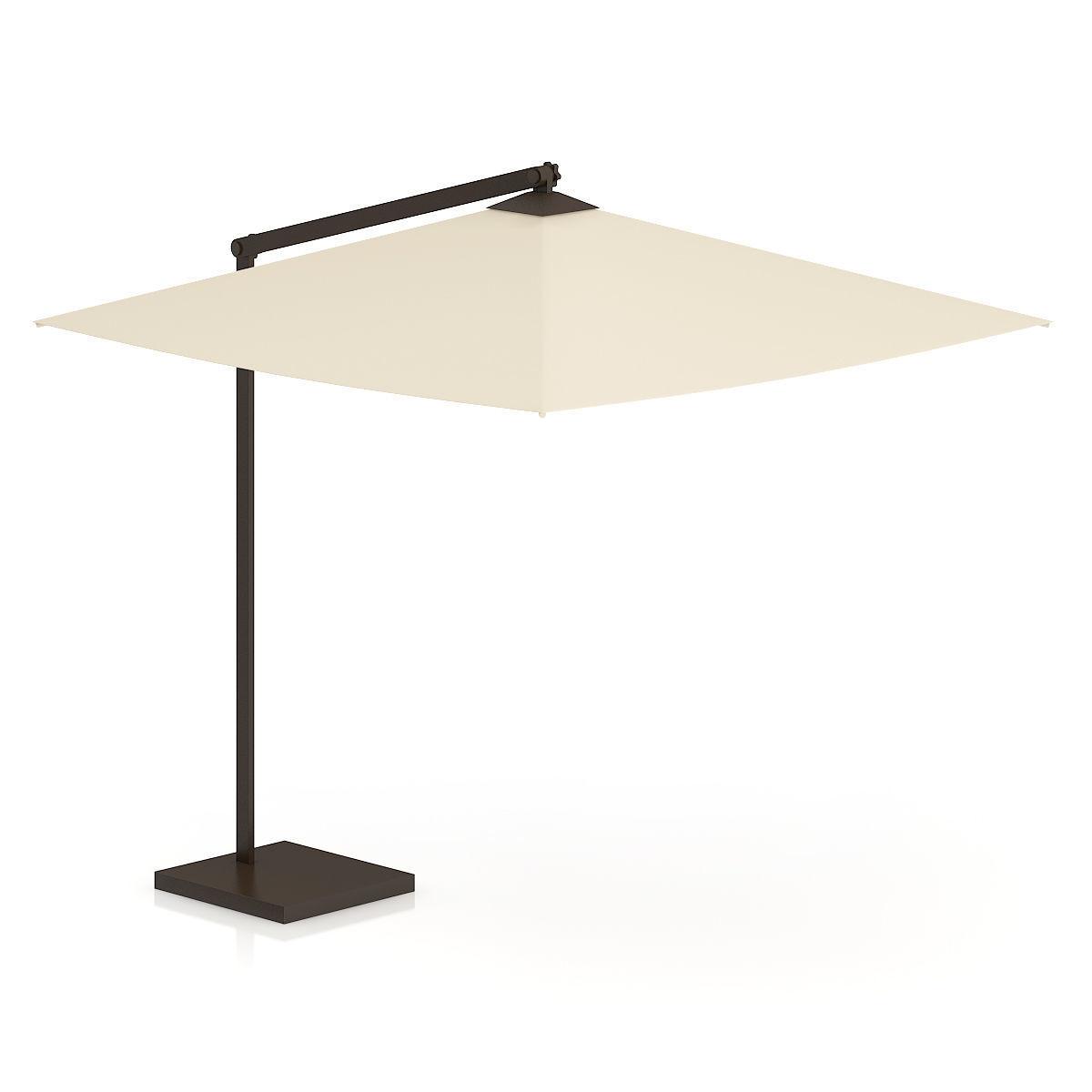 Square Beige Sunshade Umbrella