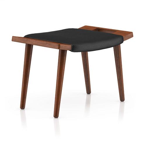 wood and leather stool 3d model max obj mtl fbx c4d 1