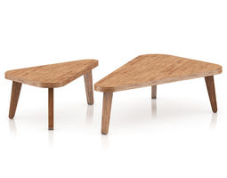 two triangle coffee tables 3d