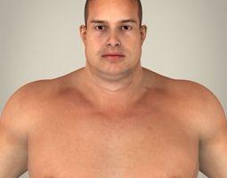 Realistic Fat Man 3D Model