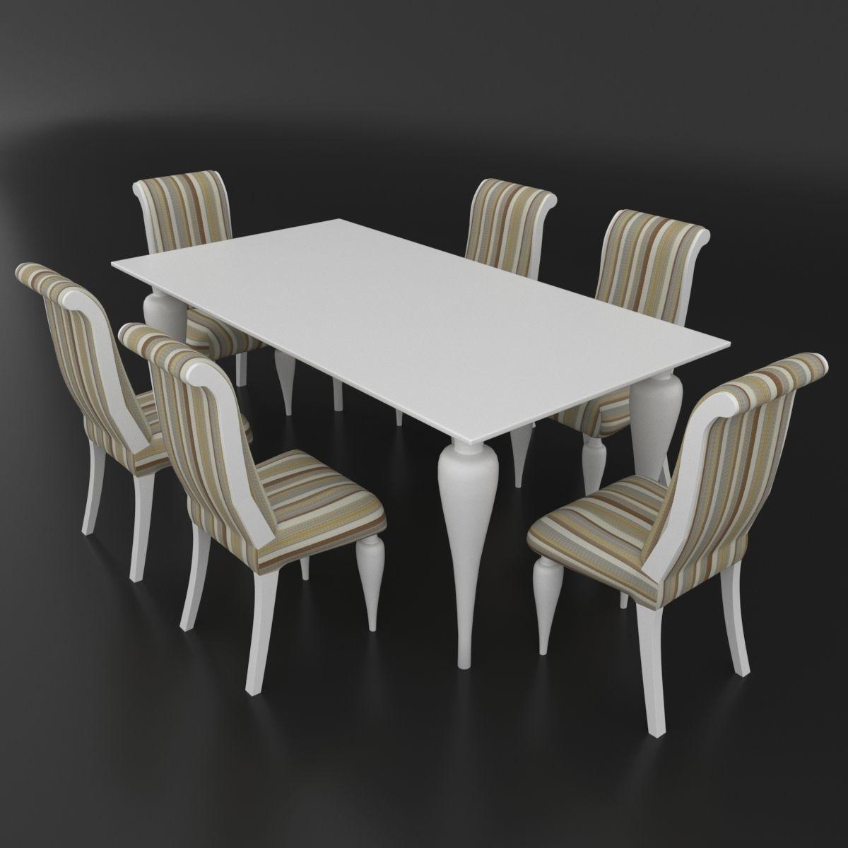 Mobili Design Italiano.Dining Set Of Classical Design Beta Mobili Ottocento Italiano 3d Model