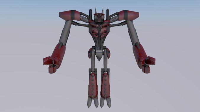 robot 3d model c4d 1