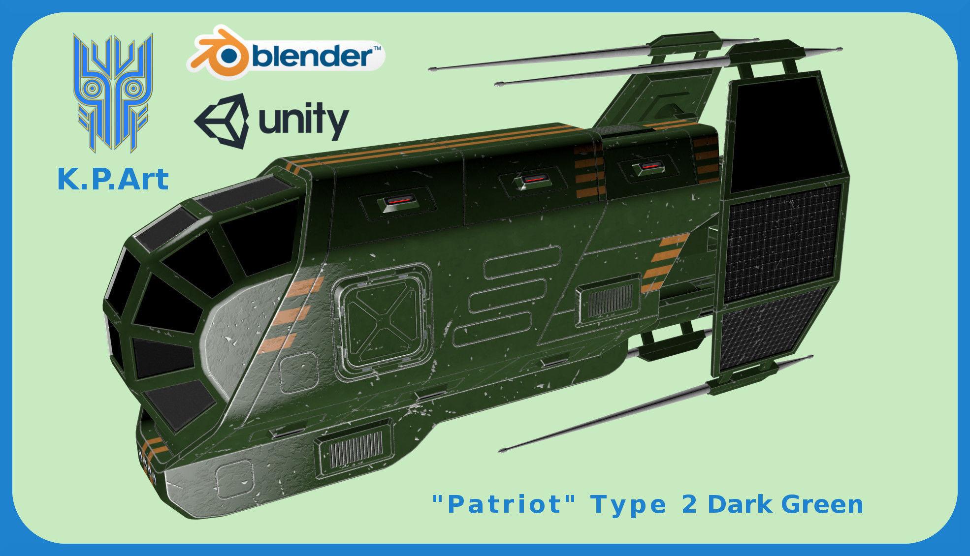 Spaceship Patriot Type 2 Dark Green | 3D model