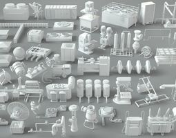 Factory Units-part-2 - 57 pieces 3D modular