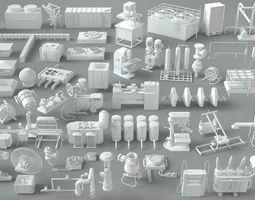 Factory Units-part-2 - 57 pieces 3D modular