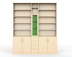 3D books library