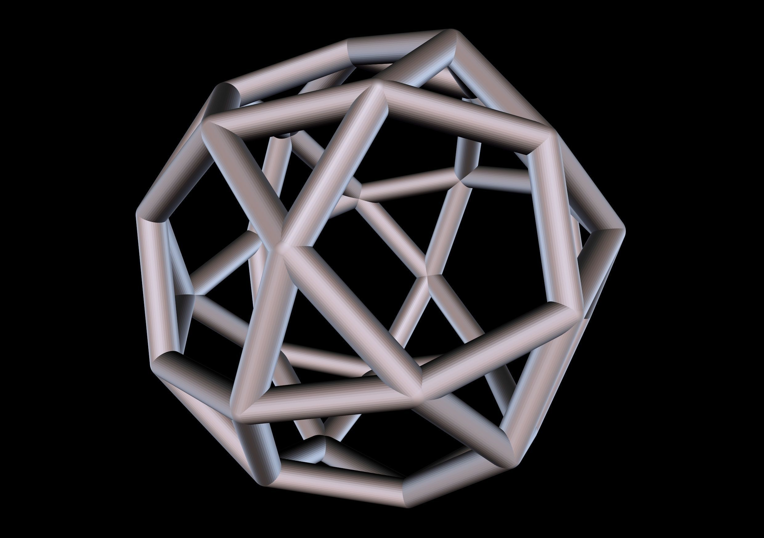 025 Mathart - Archimedean Solids - Icosidodecahedron 01 - 10cm