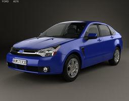 3D model Ford Focus SES US sedan 2007