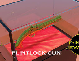 Printable Flintlock gun pendant pirates