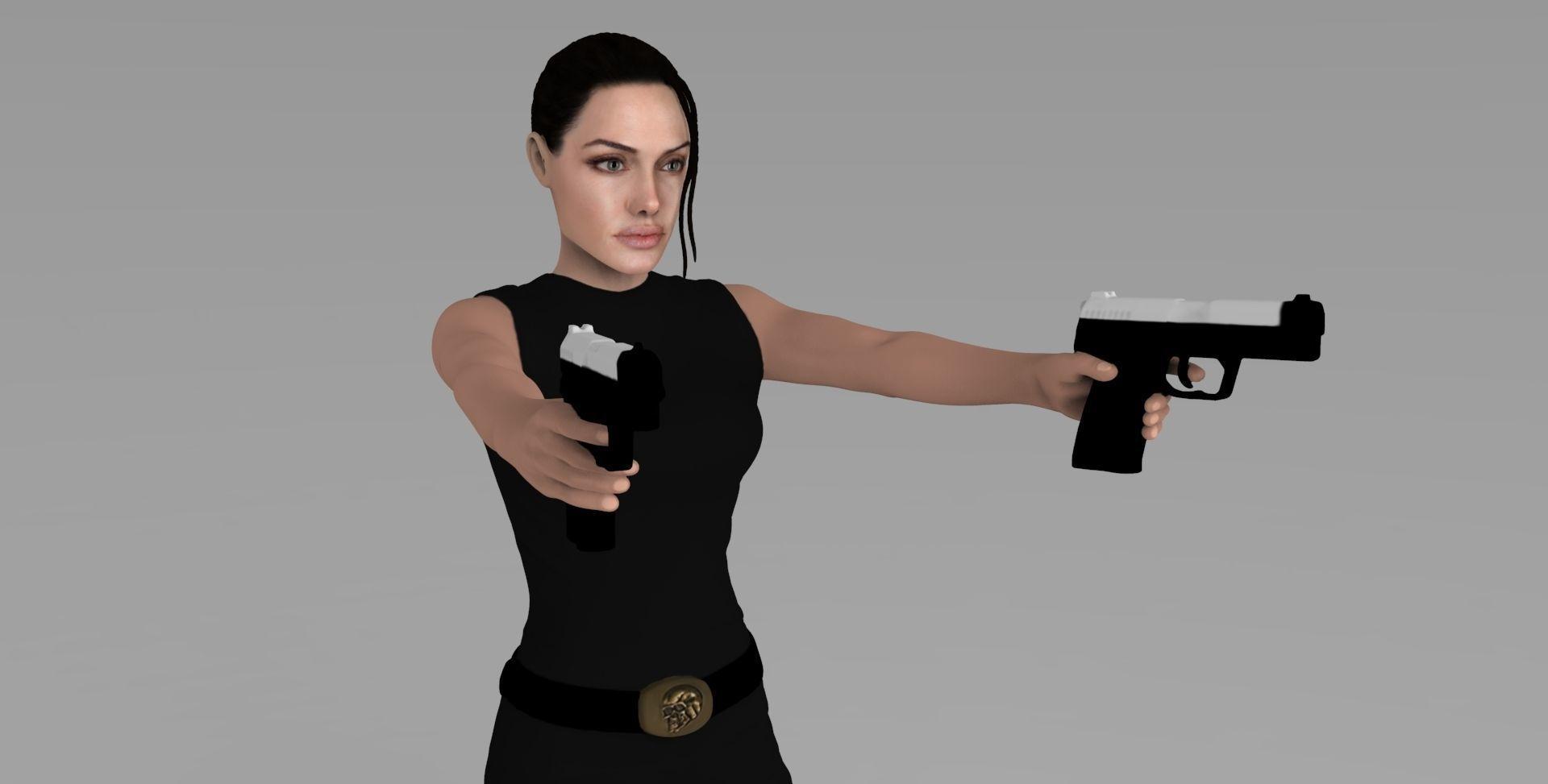 Lara Croft Tomb Raider Jolie ready for full color 3D printing