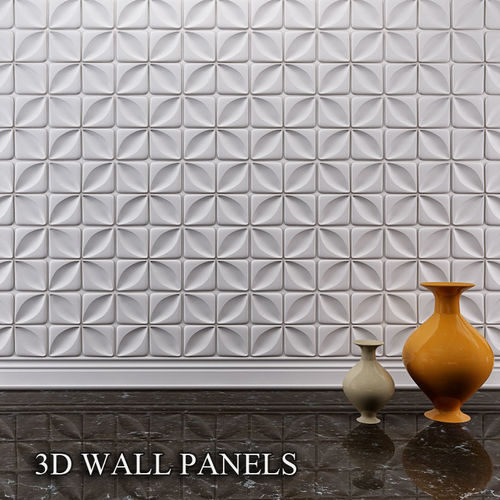 3d wall panel  3d model max obj mtl 1