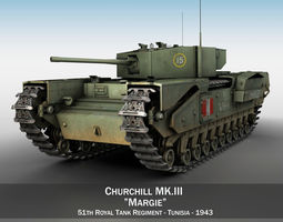 3D Churchill MK III - Margie tank