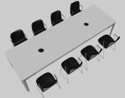 3D CONFERENCE TABLE PP 02