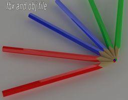 colored pencil 3D model