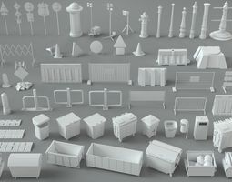 Environment Units-part-2 - 67 pieces 3D model
