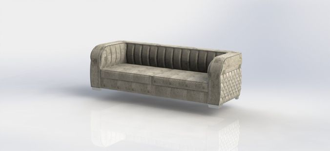art deco sofa3D model