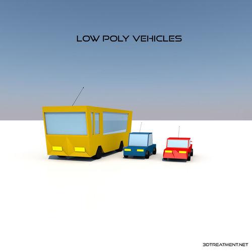 low poly vehicles 3d model low-poly obj mtl 3ds fbx c4d stl 1