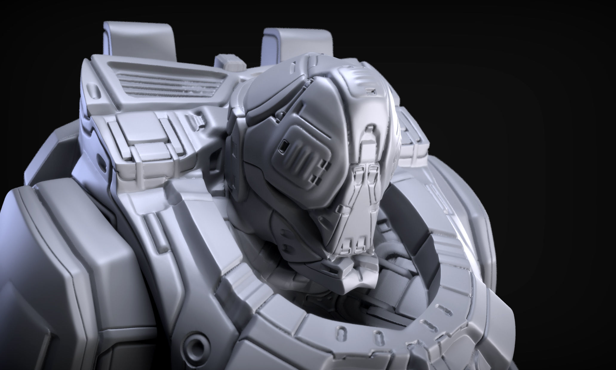 3d Model Sci Fi Armor 9 Sculpt Cgtrader