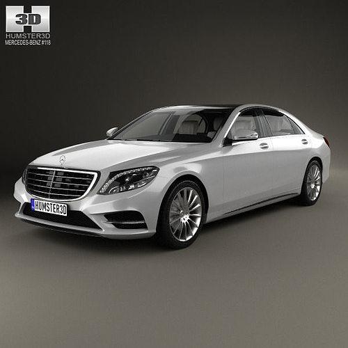 mercedes-benz s-class with hq interior 2014 3d model max obj mtl 3ds fbx c4d lwo lw lws 1