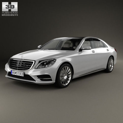 mercedes benz s class with hq interior 2014 3d model max obj 3ds fbx c4d lwo lw lws. Black Bedroom Furniture Sets. Home Design Ideas