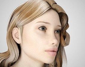 3D model Blonde Girl