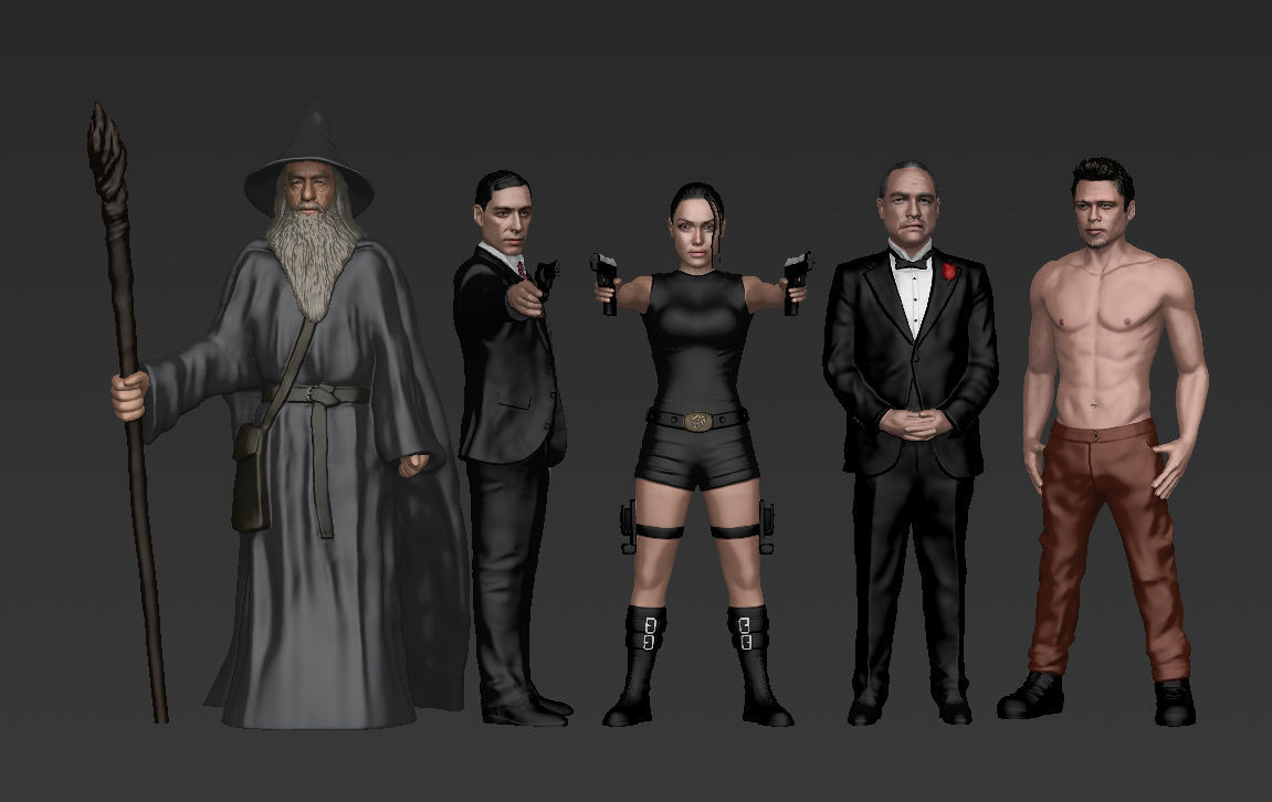 Famous TV Characters ready for full color 3D printing v2
