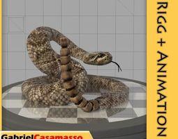 3D asset Rattlesnake