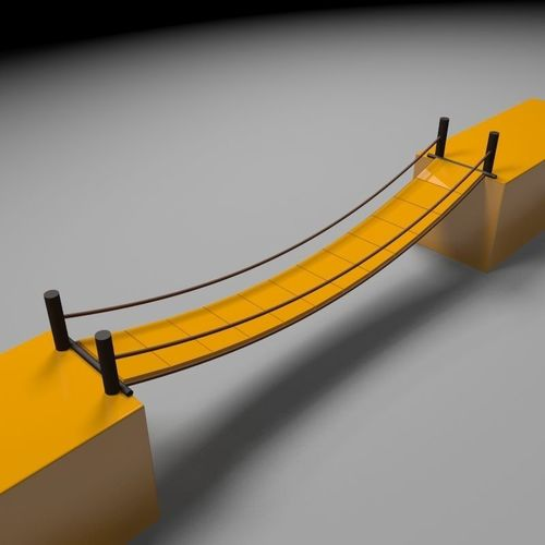 dynamic bridge with gravity and wind 3d model animated max 1