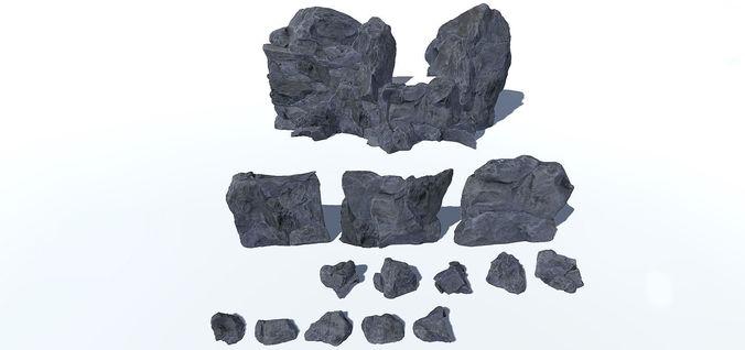 modular rocks vol 2 3d model fbx 1