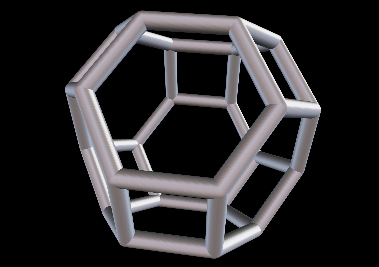 049 Mathart-Archimedean Solids-Truncated Octahedron 01-10cm