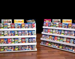 shop rack 3 3D Model