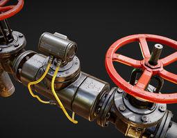 3D asset PBR Modular Pipes Set