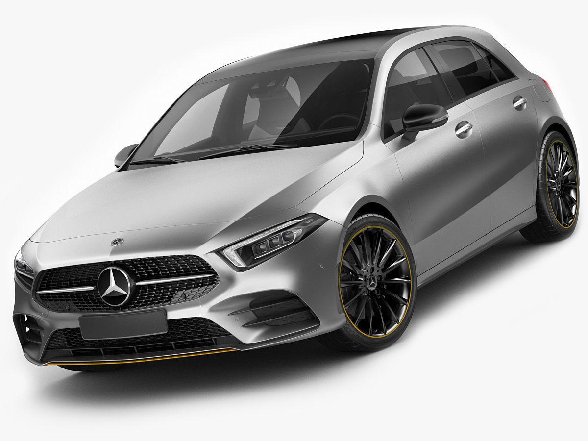 Mercedes Benz A Class 2019 Amg Line 3d Model