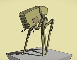 3D asset low-poly low poly robot