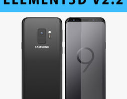 E3D - Samsung Galaxy S9 Midnight Black 3D model