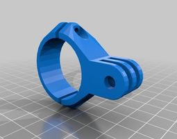 3D printable model Handle bar GoPro mounts Bicycle