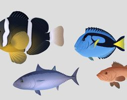 3D model Fish Collection 04