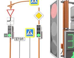LED Traffic Light 3D asset