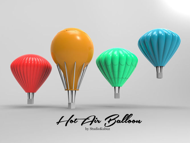 Printable Hot Air Balloons 3D Model 3D Printable .stl
