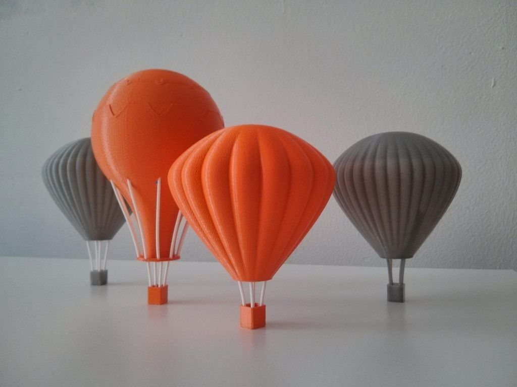Printable Hot Air Balloons D Model Stl A Afaa F B E Be Ec B Ca D