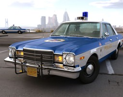 Plymouth Volare Police 1976 3D Model