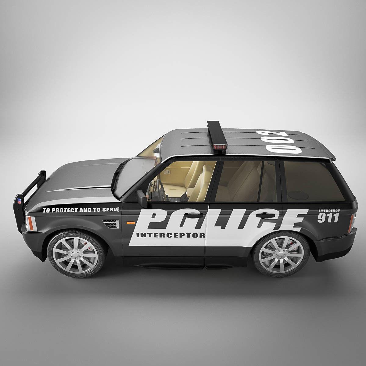 Land Rover Range Rover L405 2014 3d Model From Humster3d: Range Rover Sport Police 3D Model .max .obj .3ds .fbx