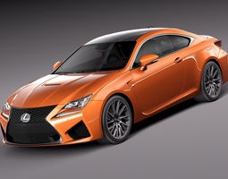 Lexus RC F 2015 3D Model