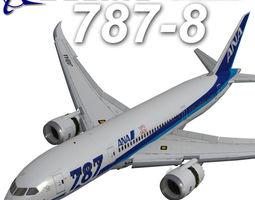 Boeing 787 800 ANA 3D model