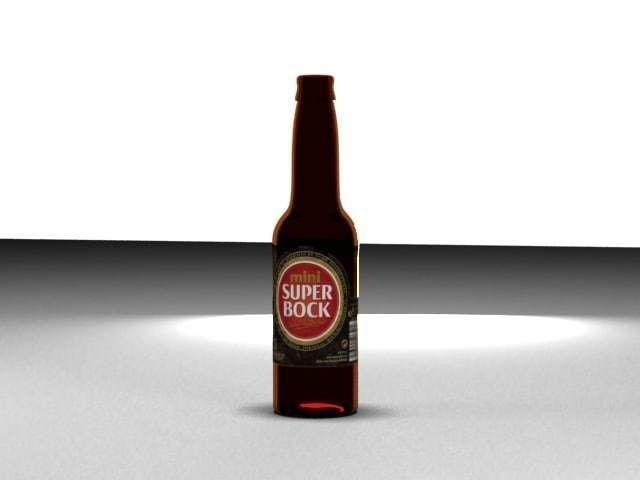 beer bottle 3d model max 1
