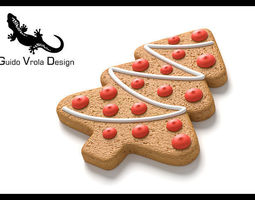 Gingerbread tree 3D Model
