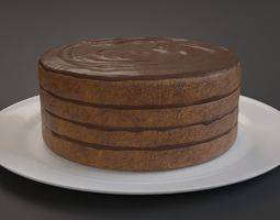 Chocolate Cake 3D asset